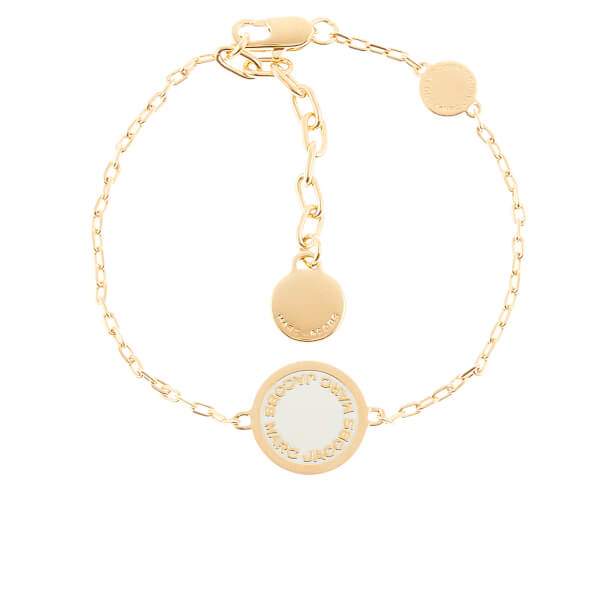 Marc Jacobs Women's Enamel Logo Bracelet - Cream