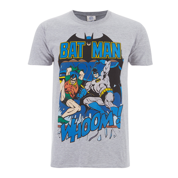 T-Shirt Homme DC Comics Batman et Robin - Gris