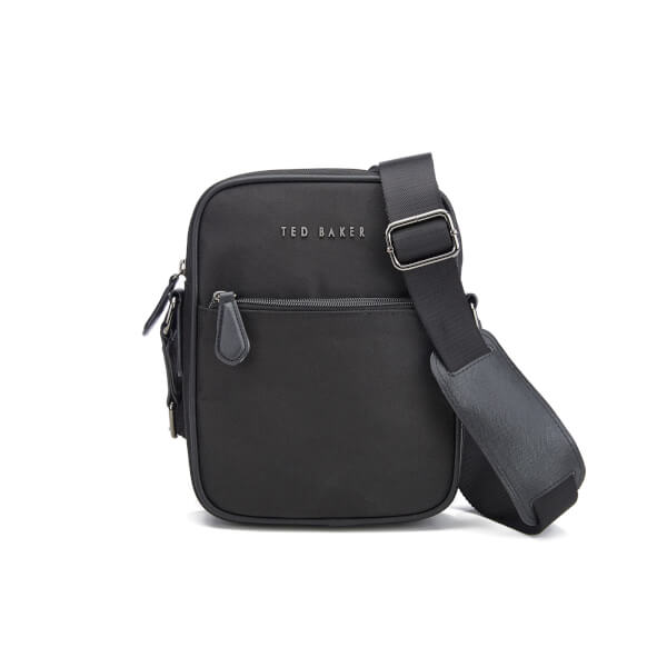 926997f5f14 Ted Baker Men's Nail Nylon Flight Bag - Black: Image 1
