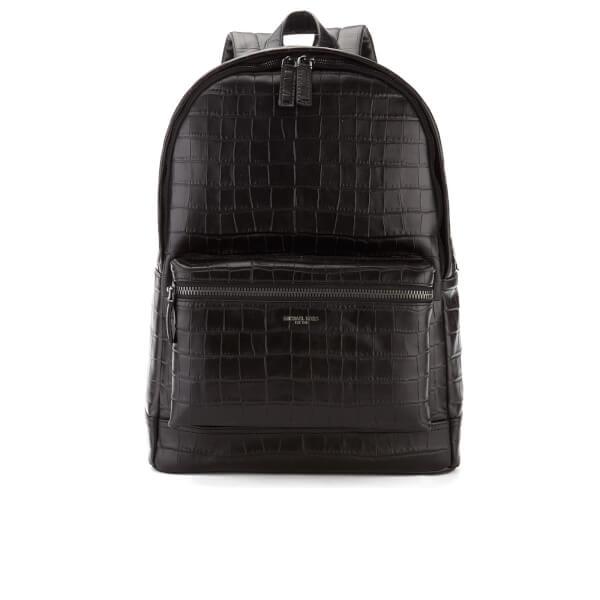 Michael Kors Men's Bryant Embossed Croc Backpack - Black