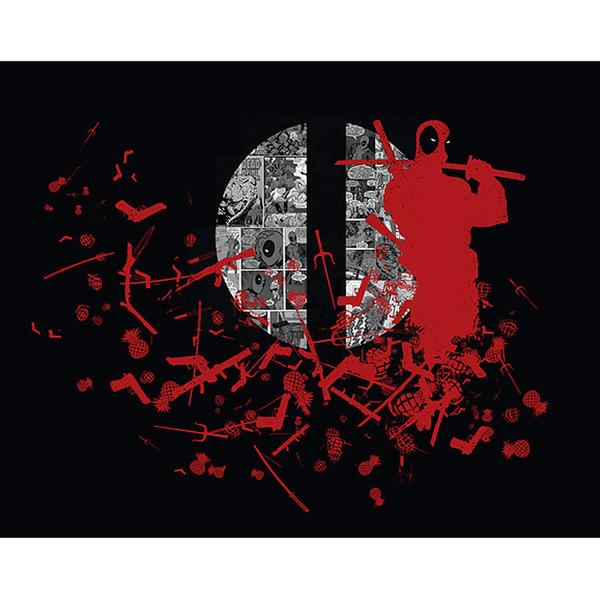 Affiche inspiration Deadpool Comics 36cm x 28cm