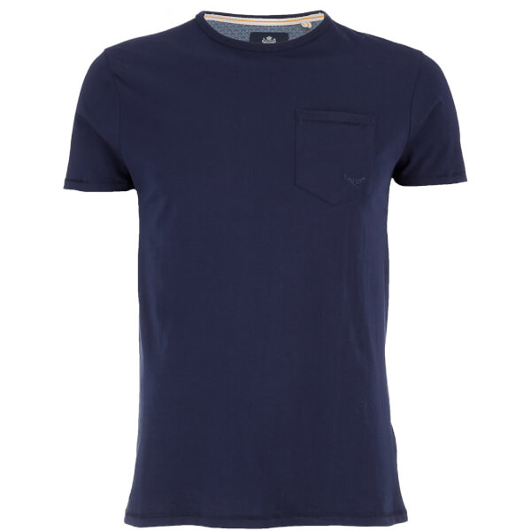 T-Shirt Homme Threadbare Jack Pocket - Bleu Marine