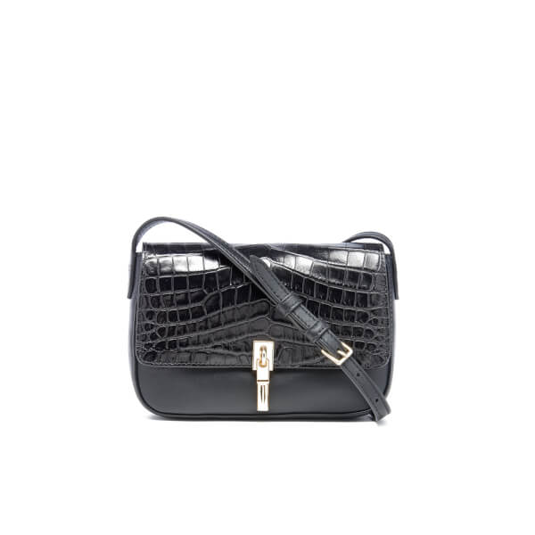 Elizabeth and James Women's Cynnie Micro Croc Cross Body Bag - Black
