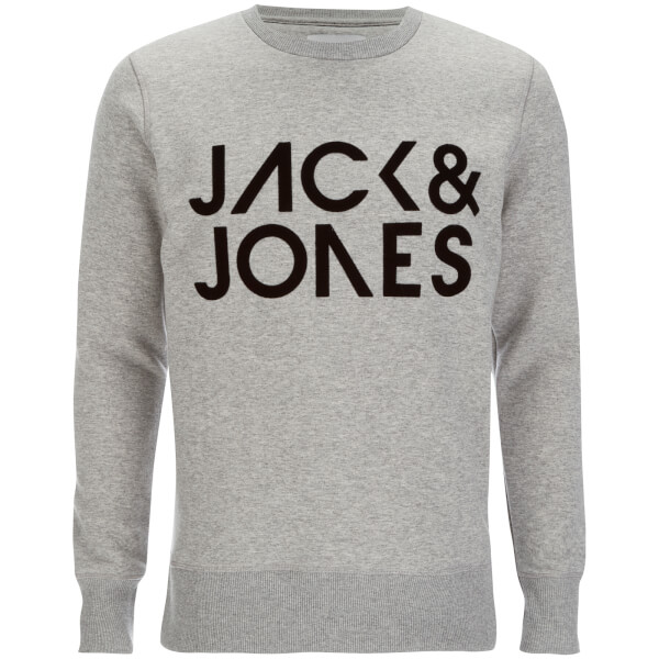 Jack & Jones Core Men's Sharp Crew Neck Sweatshirt - Light Grey Melange