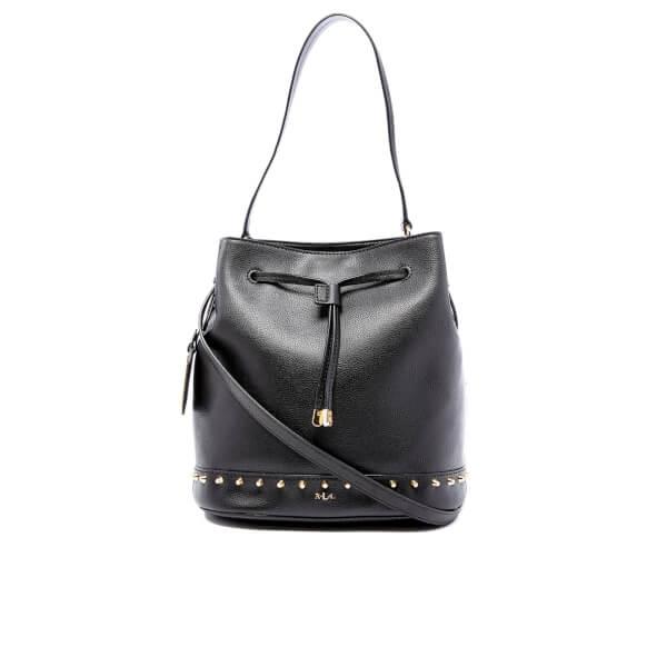 0bf34cbc9b81 Lauren Ralph Lauren Women s Dixon Carley Studded Drawstring Bag - Black   Image 1