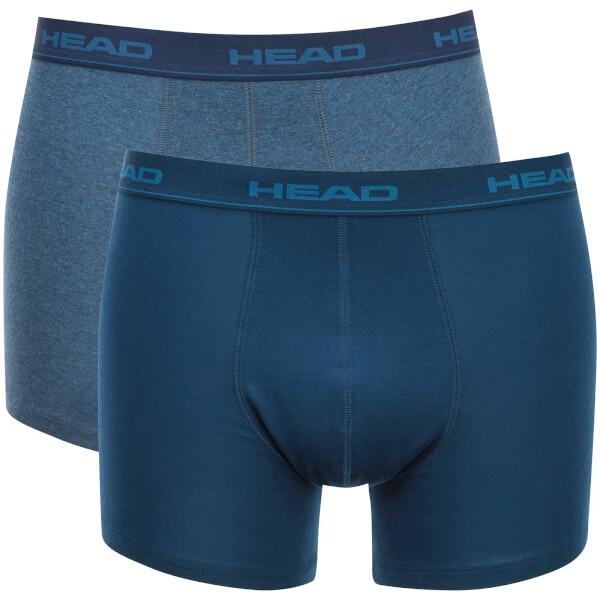 Lot de 2 Boxers Head pour Homme - Bleu Paradis