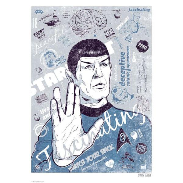 Le Cerveau de Spock Lithographie Giclée Limitée Exclusive Zavvi