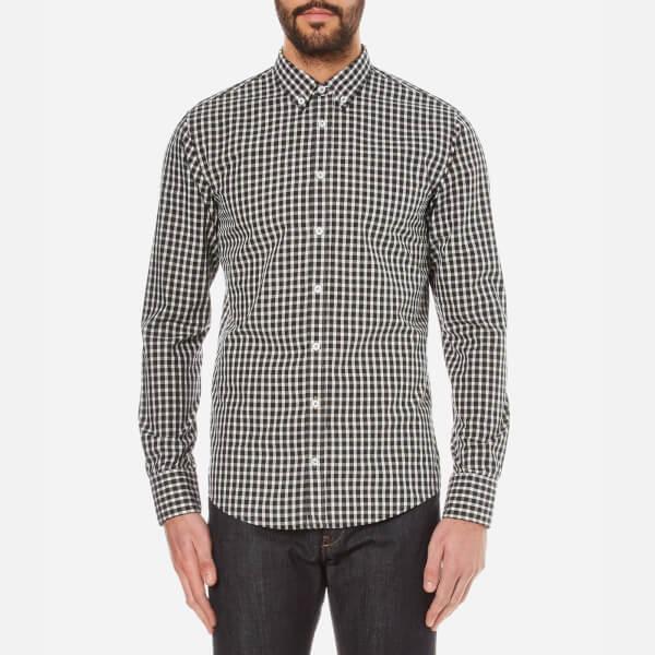 BOSS Orange Men's Epidoe Checked Long Sleeve Shirt - Open White