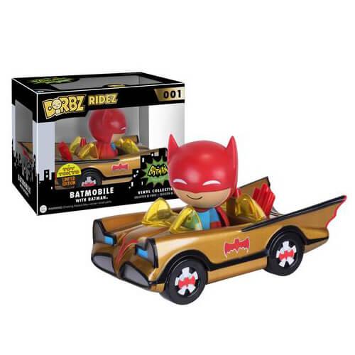 Batman Gold Batmobile & Batman Dorbz Ride & Vinyl Figure SDCC 2016 EXC