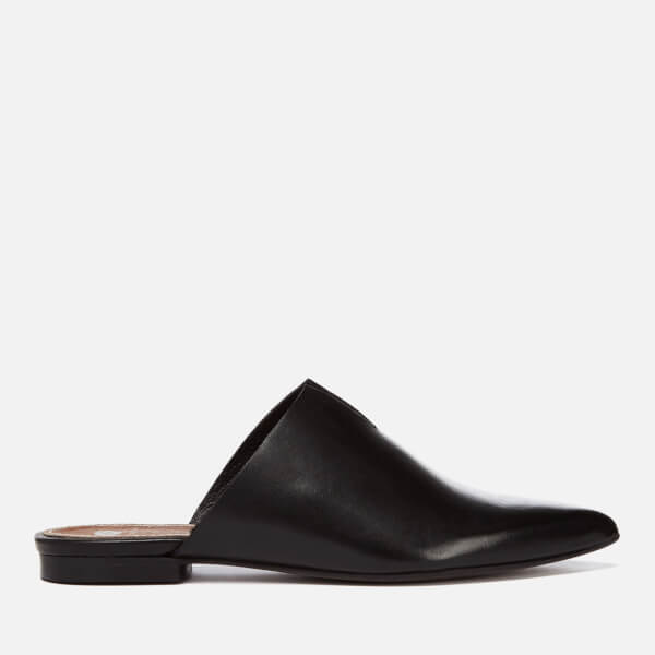 Hudson London Women's Amelie Leather Pointed Flat Mules - Black