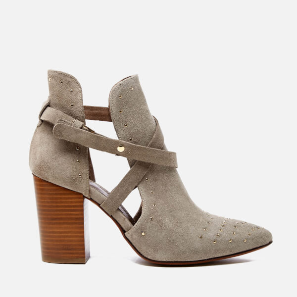 Hudson London Women's Jura Suede Studded Heeled Ankle Boots - Taupe