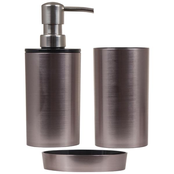 Sorema Blend Bathroom Accessories Metal Finish Set Of 3 Homeware TheHut