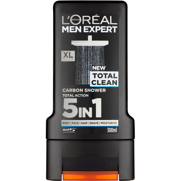 Lu0027Oréal Paris Men Expert Total Clean Shower Gel 300ml: Image 1