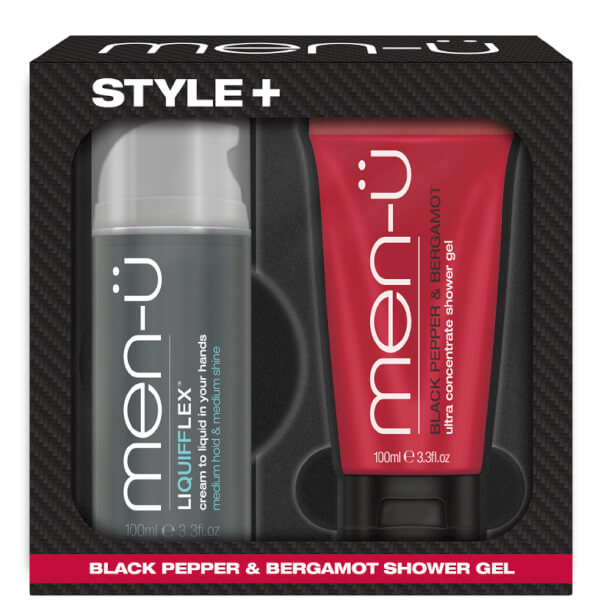 men-u Style+ Black Pepper & Bergamot Shower Gel 100ml - Liquifflex