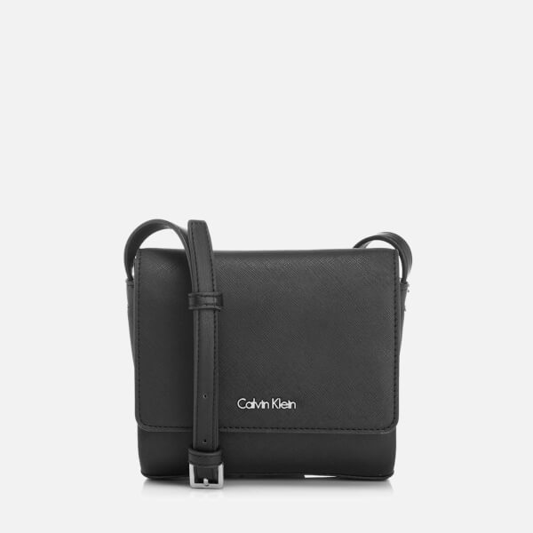 Calvin Klein Women's M4Rissa Flap Cross Body Bag - Black