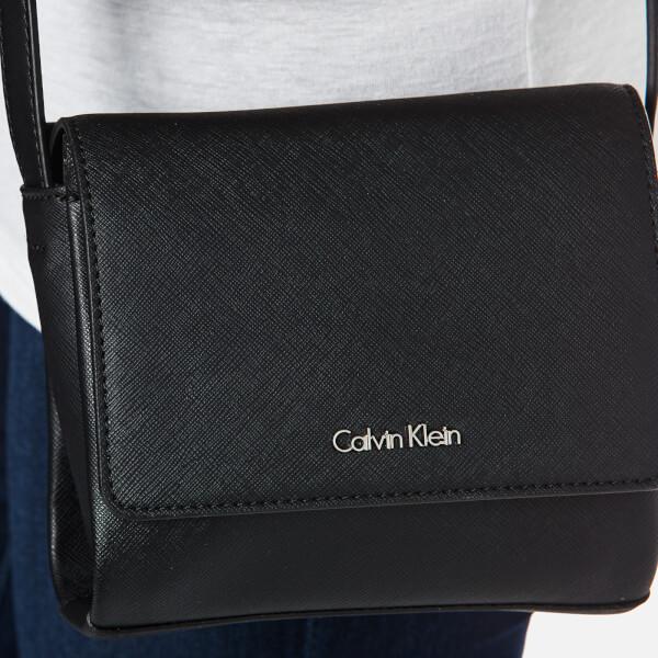 Calvin Klein Women s M4Rissa Flap Cross Body Bag - Black Womens ... 06600d3771697