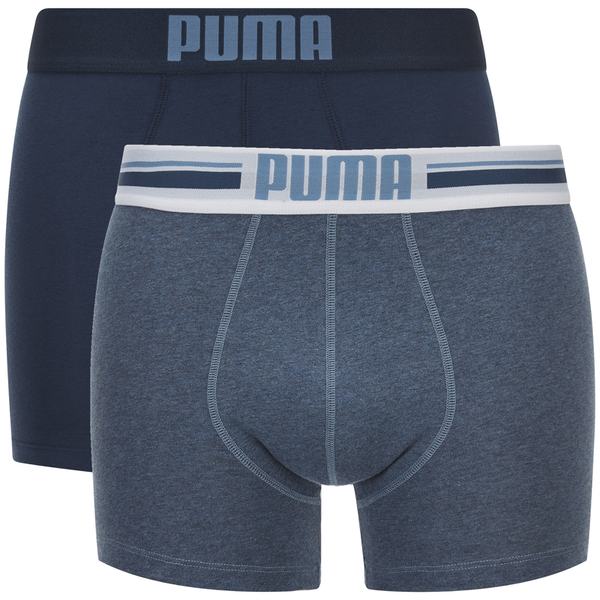 Puma Men's 2-Pack Placed Logo Boxers - Blue