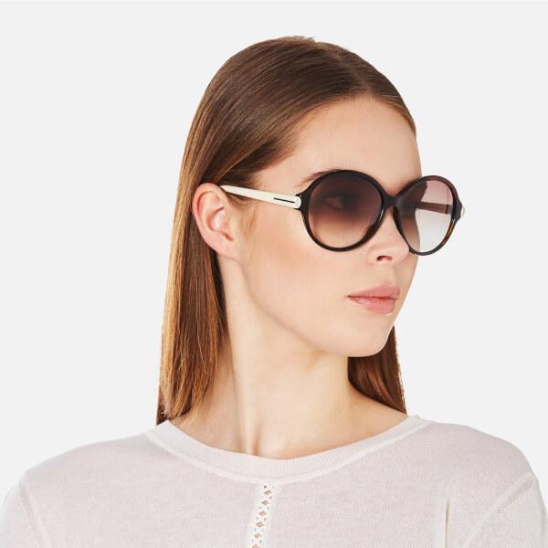 7f54d58b95a8 Tom Ford Women s Milena Sunglasses - Black White  Image 2