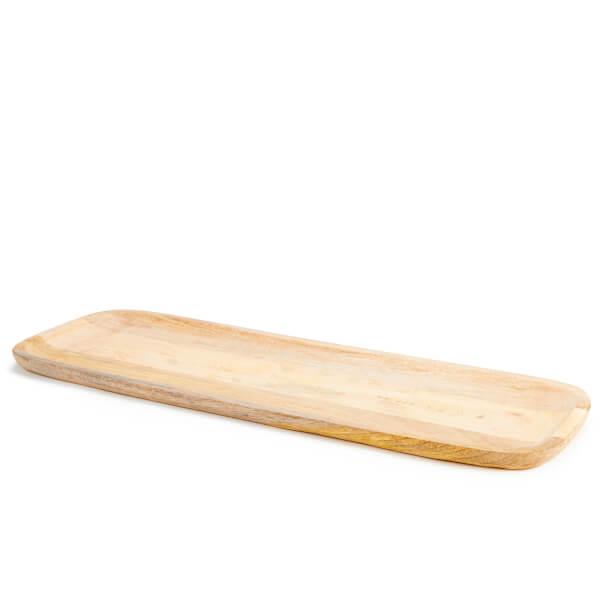 Nkuku Eta Large Mango Wood Serving Platter 60 x 22cm