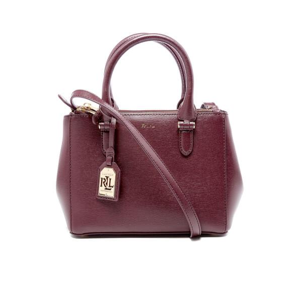 Lauren Ralph Lauren Women s Newbury Mini Double Zip Satchel Bag - Claret   Image 1 90f731c01686c