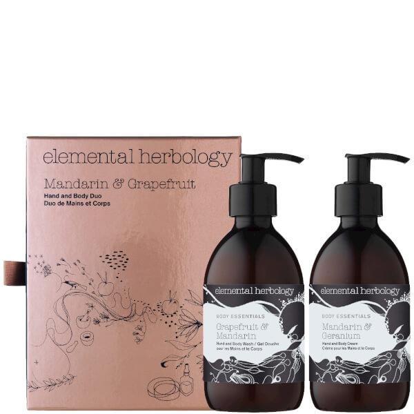 Elemental Herbology Mandarin and Grapefruit Hand and Body Duo