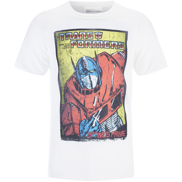 T-Shirt Homme Transformers Optimus Prime - Blanc