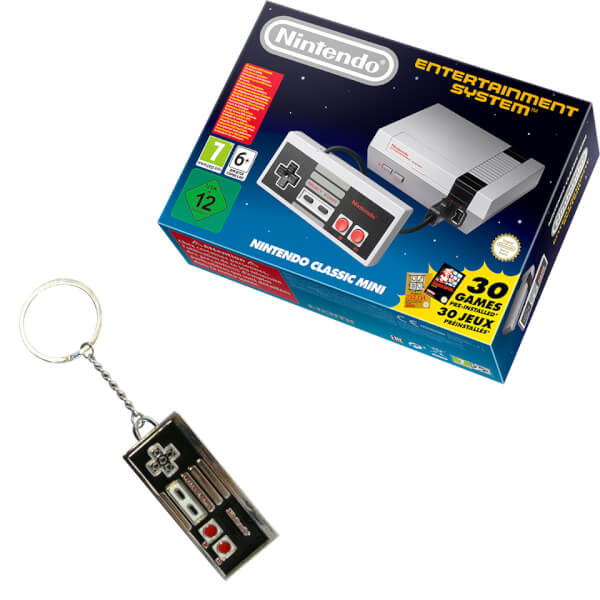 nintendo classic mini nintendo entertainment system nes controller keychain nintendo. Black Bedroom Furniture Sets. Home Design Ideas