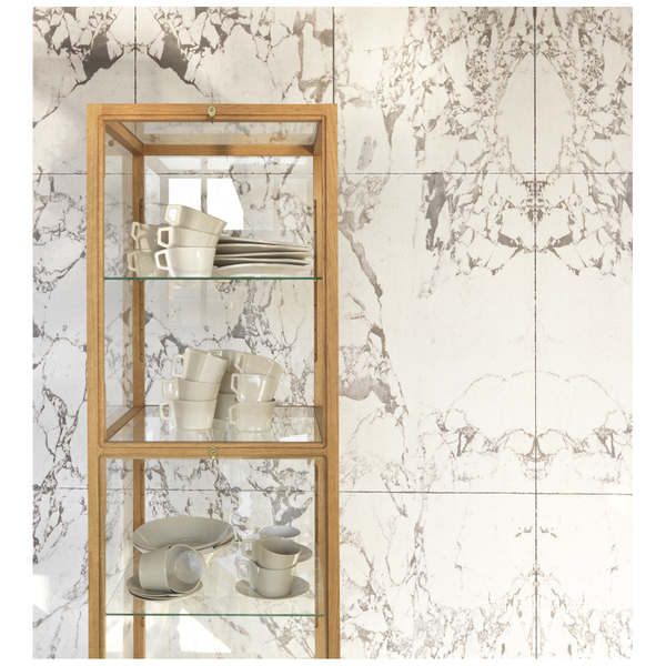 NLXL Piet Hein Eek White Marble Wallpaper - White