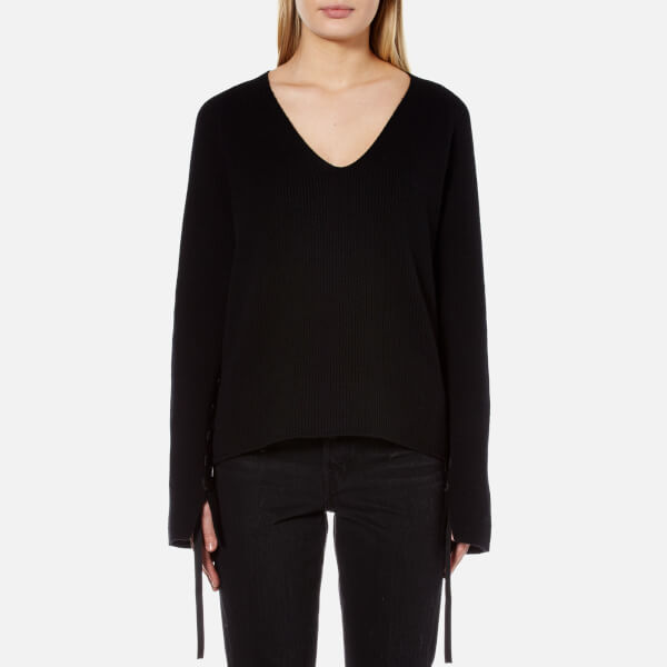 Helmut Lang Women's V Neck Jumper - Black