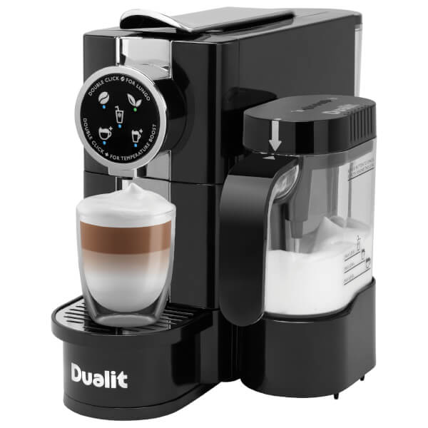 Dualit 85180 Caf 233 Cino Capsule Coffee Maker With Milk