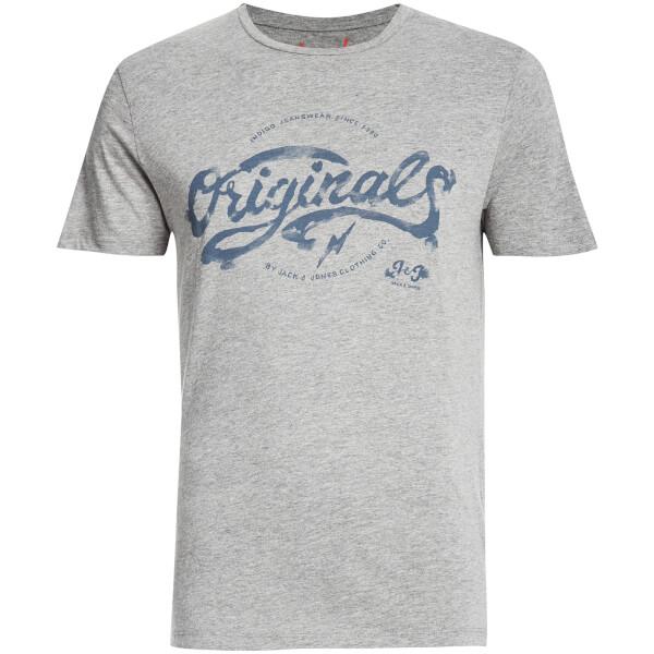 Jack & Jones Men's Originals Miller T-Shirt - Light Grey Melange