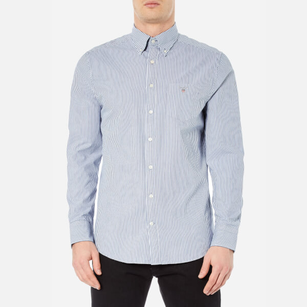 GANT Men's Indigo Long Sleeve Shirt - Dark Indigo