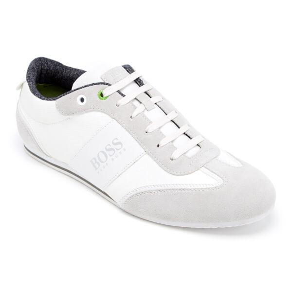 c57292029c7 BOSS Green Men s Lighter Low Top Trainers - White Mens Footwear ...