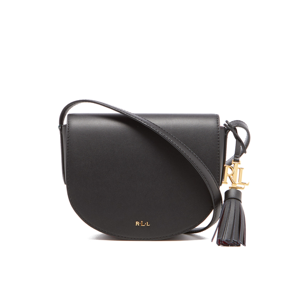 a26905c488c6 Lauren Ralph Lauren Women s Dryden Caley Mini Saddle Bag - Black Crimson   Image 1