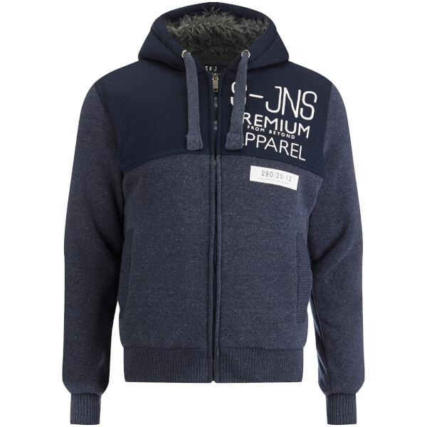 Smith & Jones Men's Enfilde Zip Through Hoody Jacket - Navy Blazer Marl