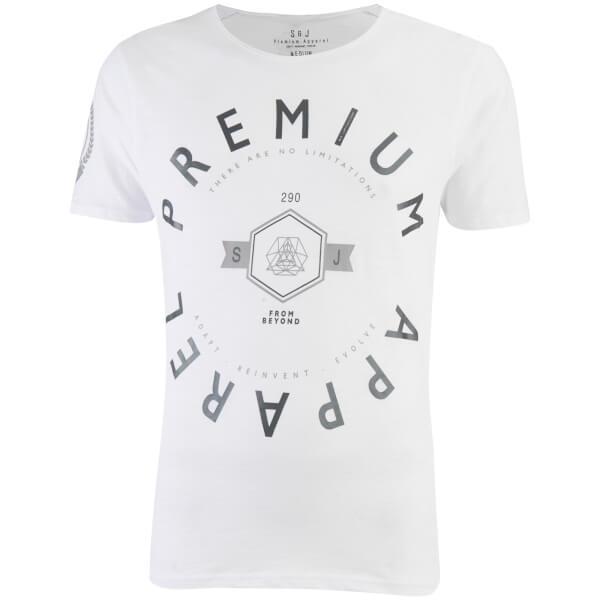 Smith & Jones Men's Kinetic Crew Neck T-Shirt - White