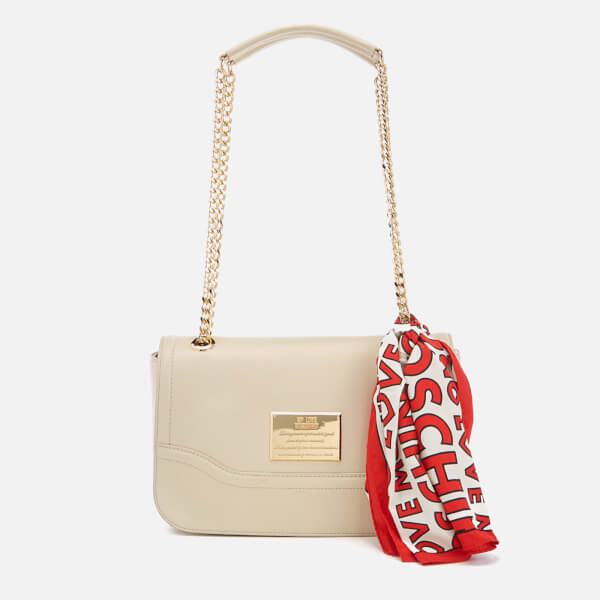 febb18309f Love Moschino Women's Shoulder Bag - Cream: Image 1