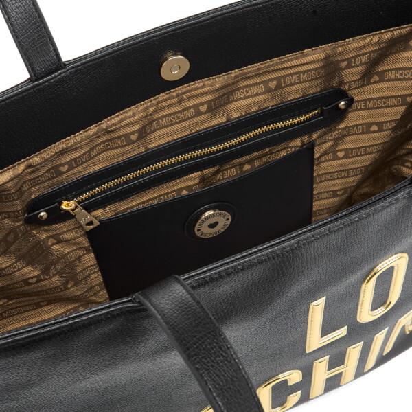 Love Moschino Women s Logo Tote Bag - Black  Image 6 83a1649a3af