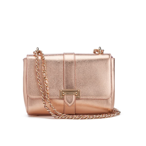 41d020f2f392 Aspinal of London Women s Lottie Bag - Rose Gold Womens Accessories ...