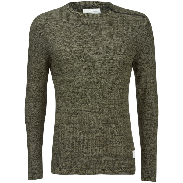 Jack & Jones Men's Core Octavio Textured Jumper - Deep Green