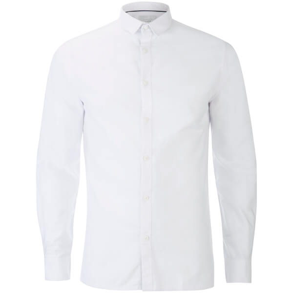 Jack & Jones Men's Core Wheel Long Sleeve Shirt - White