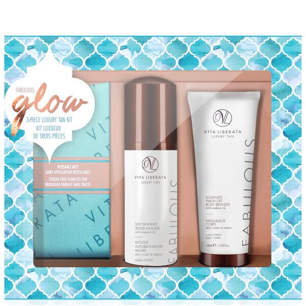 Vita Liberata Fabulous Glow Luxury Tan Box Kit - Dark Mousse
