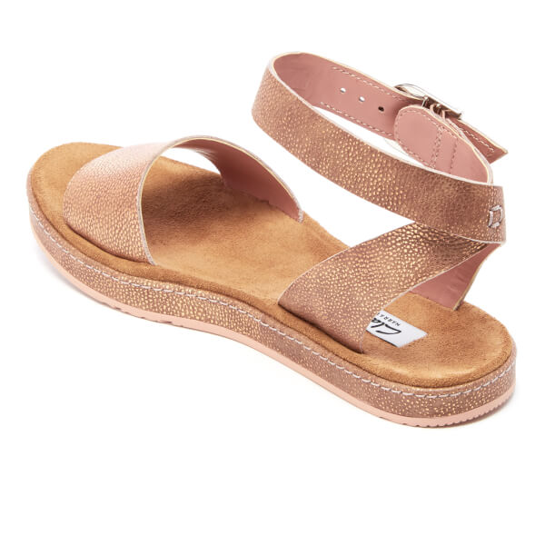 7d5a59b411e Clarks Women s Romantic Moon Leather Barely Sandals - Gold  Image 4