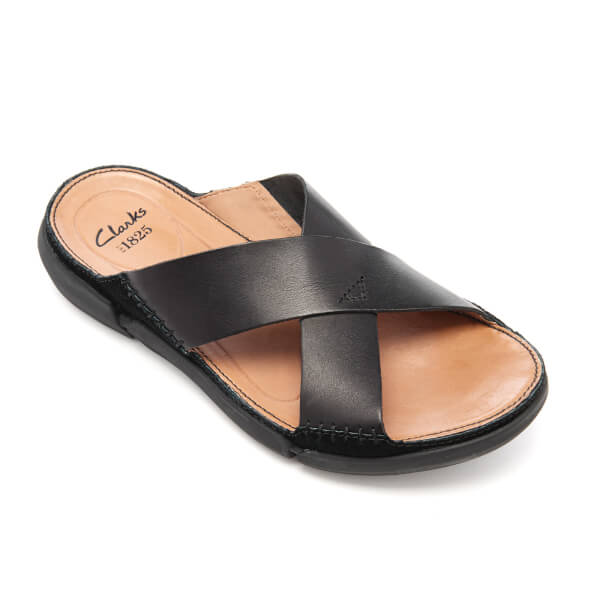 clarks men's black slippers
