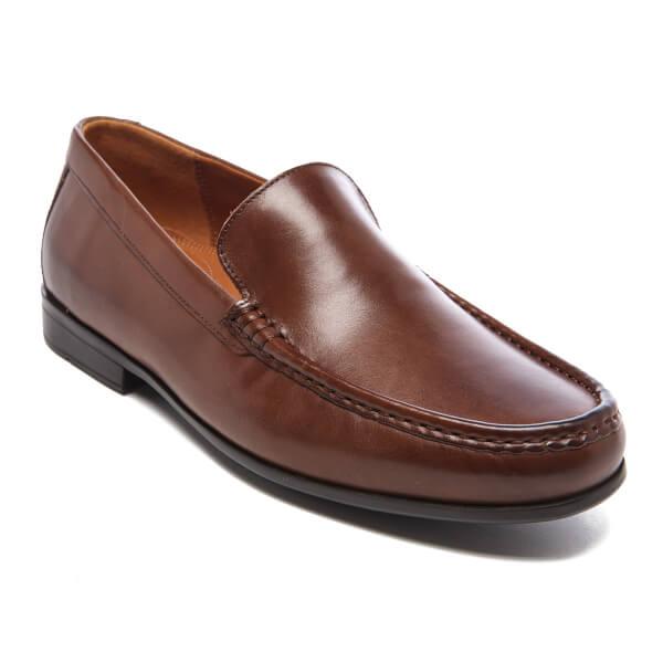 Clarks Claude Plain Brown Leather DmUag4