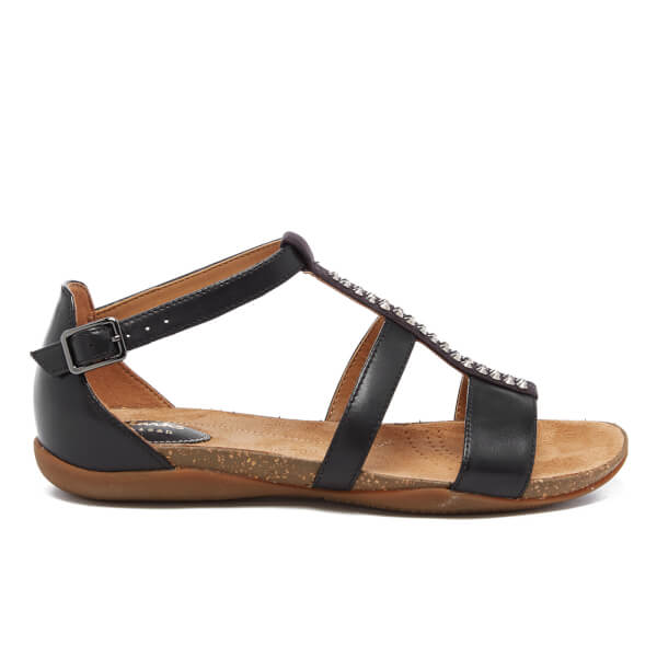 Clarks Women's Autumn Fresh Strappy Sandals - Black Combi