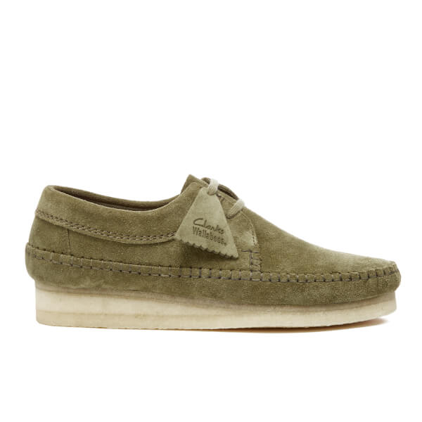 Clarks Originals Men's Weaver Shoes - Forest Green Suede
