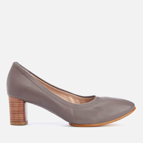 Clarks Women's Grace Isabella Leather Heeled Court Shoes - Dark Grey