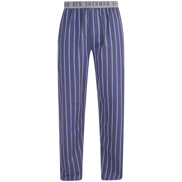 Ben Sherman Men's Stripe Jason Lounge Pants - Navy/Grey