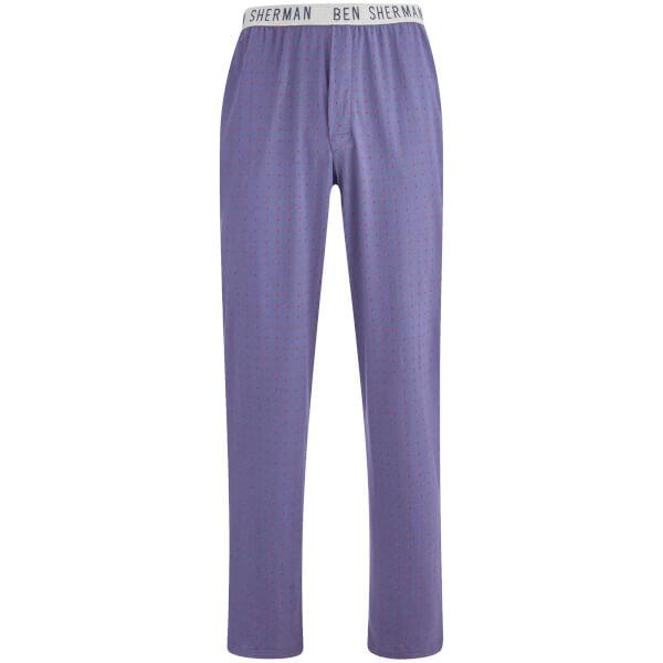 Ben Sherman Men's Spot Arthur Lounge Pants - Blue/Orange
